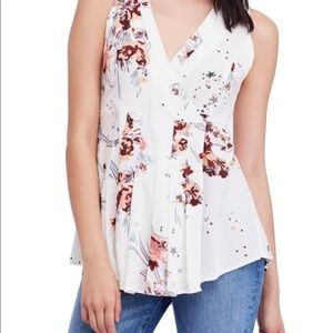 Free People Back To Basics Floral Top Tunic NWT